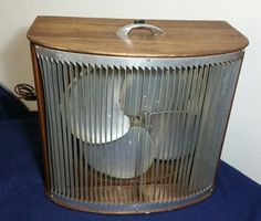 Vintage Mathes Company Cooler Floor Fan Variable Speed - Wooden Box Model 486  | eBay