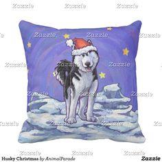 Animal Parade Husky Christmas Throw Pillow Heads and Tails 4721ec3669160