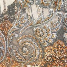 "Saira Rizwan on Instagram: ""#details #atourstudio #sairarizwan"" Pearl Embroidery, Tambour Embroidery, Couture Embroidery, Hand Embroidery Designs, Embroidery Patterns, Tambour Beading, Sleeves Designs For Dresses, Lesage, Fabric Manipulation"