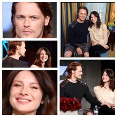 Very nice couple! (His hand is on her knee in the bottom right photo!!!!!!!! AHHHHHHHH!!!!! <3 <3 <3 <3 <3 Will there be a Sam/Caitriona ship now?)