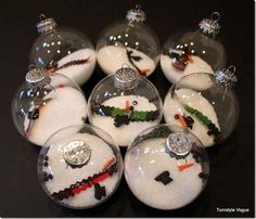 Melted Snowman Ornaments | 39 Ways To Decorate A Glass Ornament