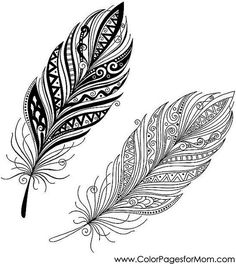 Vector peerless decorative feather, tribal design, tattoo- – Millions of creative photos, illustrations, videos and audio files for your inspiration and projects. Feather Zentangle, Coloring Pages Inspirational, Mandala Tattoo, Tattoos, Tribal Tattoo Designs, Feather Drawing, Zentangle, Feather Tattoos, Art