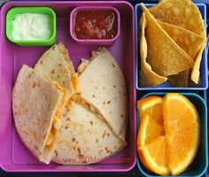 chicken quesadillas for school lunch