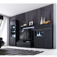 Do you want to feel like you are in the space? Get this black #living-room settingwith exclusive matt finish having the charisma to seize your attention.