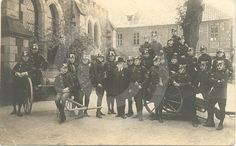 Historische Aufnahme der Feuerwehr in Wernigerode.