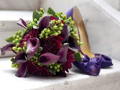 Image result for purple calla lilies wedding