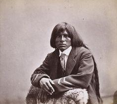 Hoodin Doyhim (aka Evening Thunder, aka Antonito Azul) the son of Antonio Azul - Pima – 1872