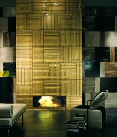A gold fireplace black and gold home interiors black for Black and gold interior design