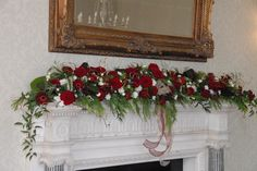Reds and cream for a Winter wedding at Goldsborough Hall