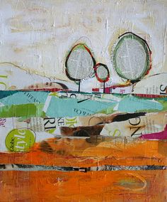 Using imagination with magazine pages to create art. Be sure to have lots of glue sticks, or use mod-podge. Finish with another layer of mod-podge, or spray with a clear sealer. The creativity is endless.