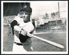 Roger Maris followed Rocky through the Indians' minor league system in Reading and Indianapolis before breaking in with the Cleveland club in 1957.  This is a photo from Maris's rookie season.