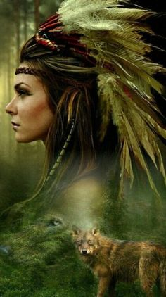 Native American and Wolf ~ Carol Cavalaris Native American Girls, Native American Wisdom, Native American Pictures, Native American Artwork, Native American Beauty, Indian Pictures, American Indian Art, Native American History, American Indians