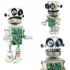 NEUMANN..by deBOTed #robot #craftart #handmade #junksculpture