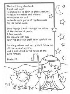 god is my shepherd coloring pages lovely the lord is my shepherd coloring page part 7 lord coloring my pages god is shepherd Sunday School Activities, Sunday School Lessons, Sunday School Crafts, Preschool Bible, Bible Activities, Preschool Learning, Learning Activities, Bible Study For Kids, Bible Lessons For Kids