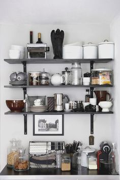 how to style your open kitchen shelving - the barista | via coco+kelley