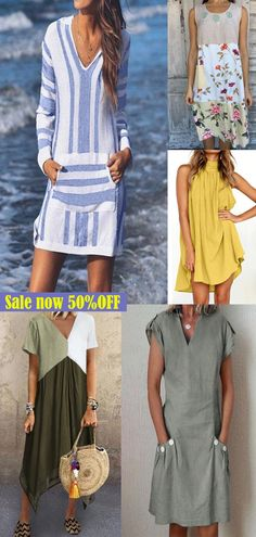 Wow!Super pretty clothes!Enjoy a leg-lengthening look,It is the perfect,affordable,flattering and fun summer skirt! Pretty Clothes, Pretty Outfits, Cool Outfits, Summer Skirts, Summer Dresses, Hippie Chic, Bohemian Gypsy, Mother Of The Bride Gown, Sun Dresses