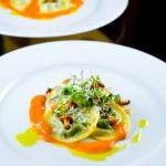 Scallop Crudo with Passion fruit, Celery Leaves & Shiso Oil | Zen Can Cook
