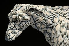 "adrian arleo: ""Blue Dog"" 2005 (detail)"