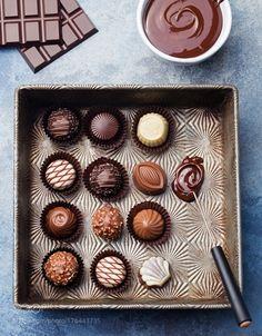 Chocolate candies vintage dish chocolatier tool by pustynnikovaa