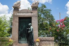 The Flaming Tomb of Storyville Madam Josie Arlington in Metairie Cemetery, now the resting place for the Morales family