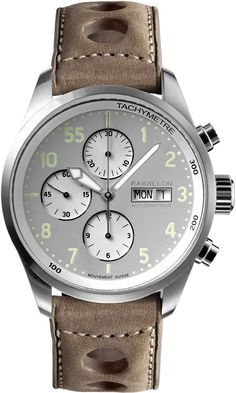 Raidillon Watch Timeless Chronograph Limited Edition #add-content #bezel-fixed #bracelet-strap-leather #brand-raidillon #case-material-steel #case-width-42mm #chronograph-yes #date-yes #day-yes #delivery-timescale-call-us #dial-colour-grey #gender-mens #l