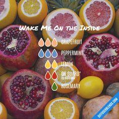 Blend Recipe: 3 drops Grapefruit, 3 drops Peppermint, 2 drops Lemon, 2 drops On Guard, 1 drop Rosemary