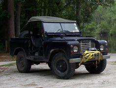 Land Rover Series III with bimini top