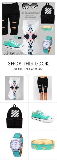 """""""Twinkledeals"""" by tlb0318 on Polyvore featuring Off-White, Converse and Deborah Lippmann"""