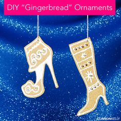 Easy and chic crafting, because everyone needs a break from the holiday hysteria! DIY these festive ornaments and more on ClintonKelly.com!