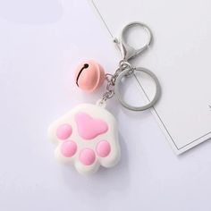 3D Cat Paw Keychain - Love Cat Design Polymer Clay Cat, Polymer Clay Jewelry, Clay Keychain, Keychains, Clay Cats, Cat Paws, Cat Design, School Items, 3d