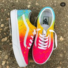 All shoes are made to order and ship in 2 weeks. Cool Vans Shoes, Vans Shoes Fashion, Custom Vans Shoes, Cute Vans, Mens Vans Shoes, Cute Sneakers, Nike Air Shoes, Vans Men, Adidas Shoes