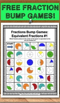 Get this and 11 other fraction bumps games as an exclusive FREEBIE when you… Simplifying Fractions, Teaching Fractions, Math Fractions, Equivalent Fractions, Comparing Fractions, Teaching Math, Dividing Fractions, Maths, Adding Fractions