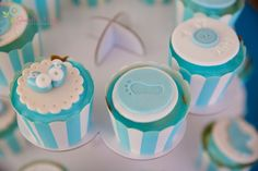 Boy Baby shower cupcake toppers by sweet treats perth