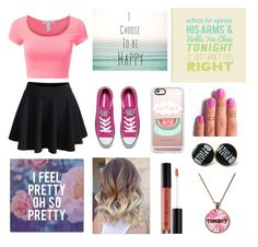 """Laugh"" by dreamer2911 ❤ liked on Polyvore featuring Trademark Fine Art, Casetify, Converse and Anastasia Beverly Hills"