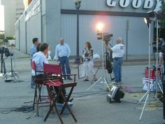 Beth & Bruce anchoring coverage from the middle of 2nd Avenue in downtown Cedar Rapids.