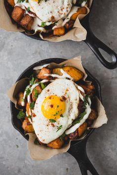 Potatoes Bravas With Chorizo, Fried Eggs