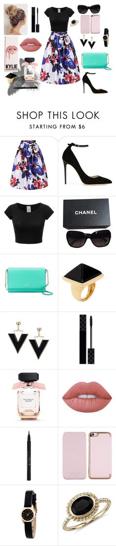 """Nani Style"" by itsanmcno on Polyvore featuring moda, Jimmy Choo, Chanel, Kate Spade, Kenneth Jay Lane, Gucci, Lime Crime, Stila, Ted Baker y Marc by Marc Jacobs"