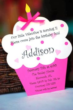a simple favor: Custom Valentine Birthday Invitations