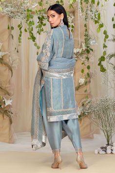 Rose Jacket, Embroidered Roses, Dress Indian Style, Silk Dupatta, Silk Slip, Chiffon Shirt, Party Wear, Indian Fashion, Kimono Top