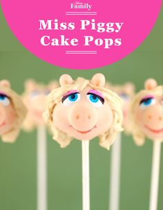 Miss Piggy looks quite pretty as a delectable cake pop! This easy recipe is the perfect way to prep for watching The Muppets!