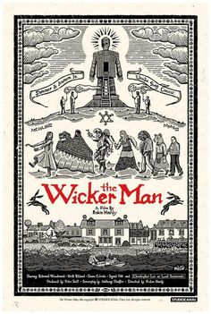 "keyframedaily: "" Robin Hardy's The Wicker Man Poster by Richard Wells via Film on Paper. Horror Posters, Screen Printing, Poster Art, Art, Horror Movie Posters, Poster Design, Woodcut, Horror, Movie Poster Art"