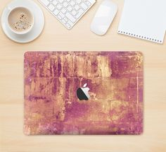 """The Pink Paint Splattered Brick Wall Skin Kit for the 12"""" Apple MacBook from DesignSkinz"""