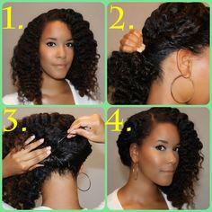Terrific Styles For Natural Hair Halo And Updo On Pinterest Hairstyles For Women Draintrainus