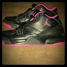 finest selection 380d6 d3ee8 Jordan Shoes   Glitter Pink And Black Jordans   Color  Black Pink   Size   5.5. Pink And Black JordansWomens ...