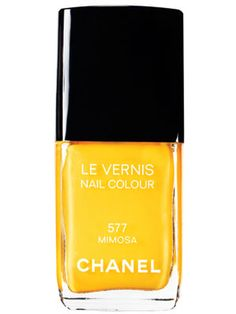 We've been crushing on this happy, New Wave hue. Now we just need a Wham! reunion. Chanel Limited Edition Nail Colour in Mimosa, $25.