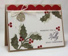 Mistletoe & Holly (PTI) Ink: Cherry Cobbler & Always Artichoke (SU!), True Black (PTI)