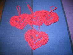 Virkat hjärta (Crocheted heart) by AnneSofie Ampén