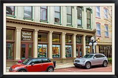 https://flic.kr/p/po4WFL | Picturesque Parking | This is some of the beautiful area of downtown Frankfort, KY.  This street is completely done in wonderful red brick.  Windows are so desirable that murals are done of them (look closely).