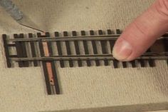 Fixing Model Train Tracks: How to Upgrade a Turnout