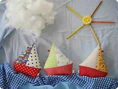 Fabric Sailing Boats - Stoffsegelboote für die Kleinen, tolle Stoffresteverwertung!